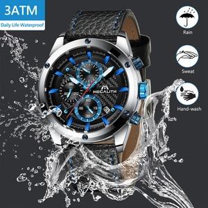Image 5 - Relogio Masculino MEGALITH Men Watches Top Brand Luxury Watch For Men Waterproof Leather Srtap Quartz Clock 8004 Wholesale Price