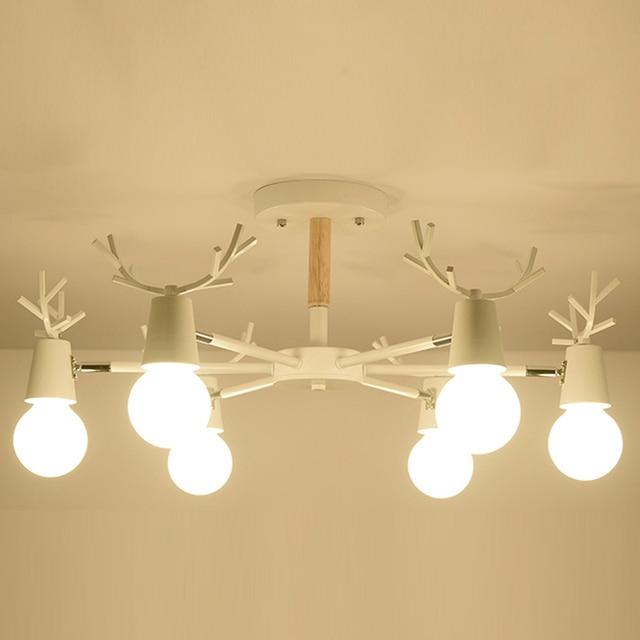 Nordic Wood Modern ceiling Lamp Light For home Lighting Living Room Nordic Simple Modern OAK Wood Ceiling Lights LED