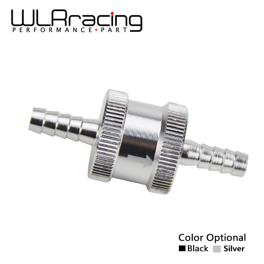WLR RACING - 1/4 6mm Non Return One Way Fuel Check Valve Aluminum Alloy Petrol Diesel WLR-FCV06