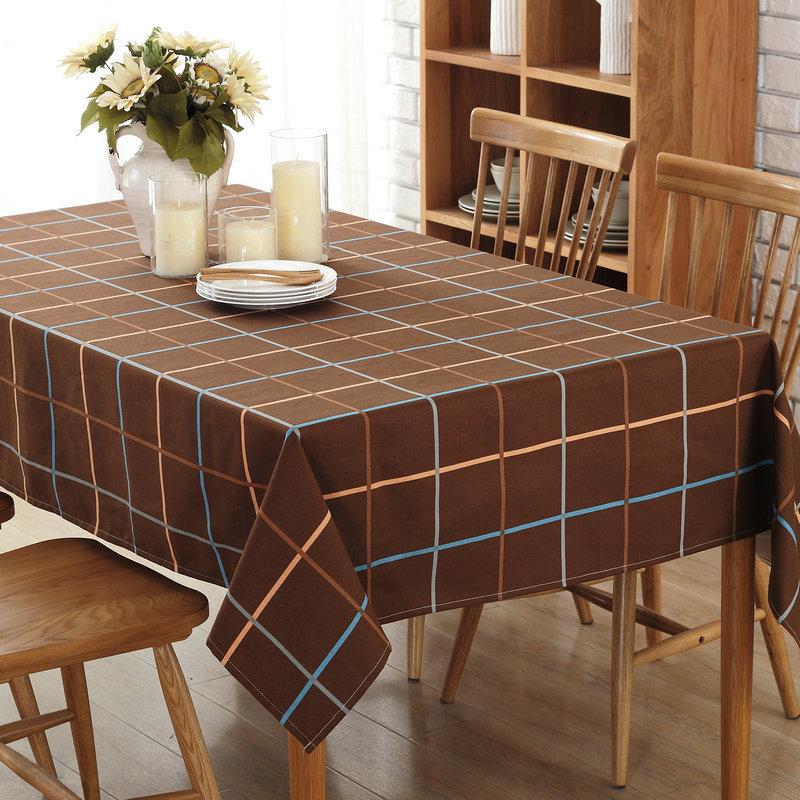 Новая европейская классическая холст плед кофе Скатерти сетки серии дома крышка Полотенца одежда маслостойкая для Кухня шахматная доска