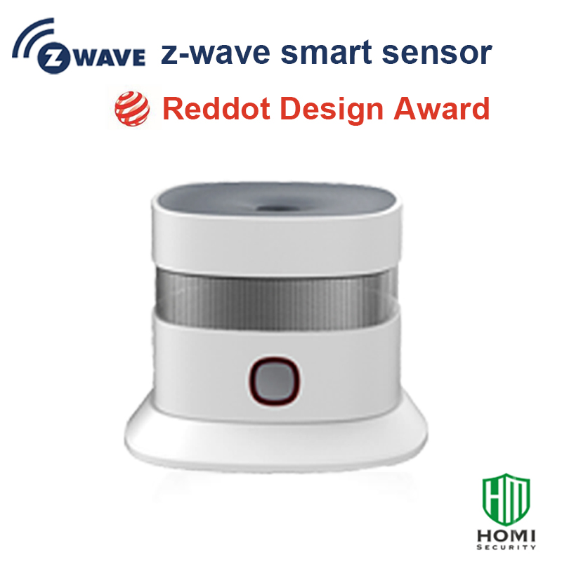 2017 Reddot Design Award Z-wave Smoke Sensor Free Install Wireless Somke Detector Fire Alarm Home Security