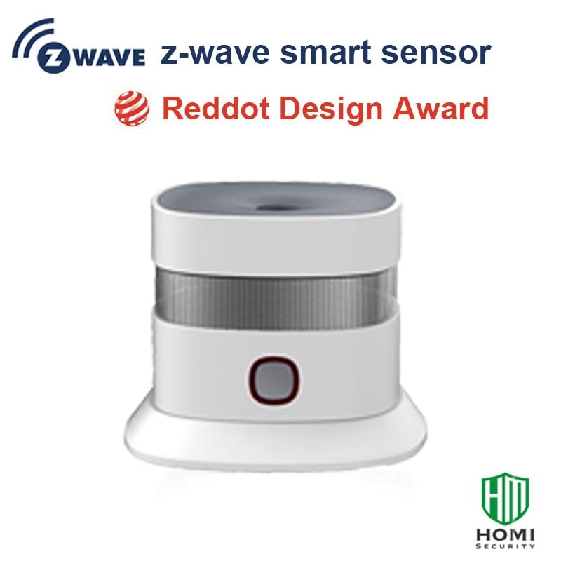 2017 Reddot Design Award Z-wave Smoke Sensor Free Install Wireless Somke Detector Fire Alarm Home Security