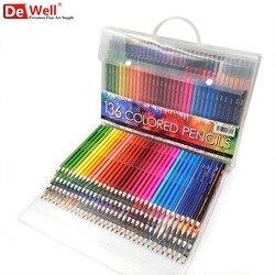 136 Colors Wood Colored Pencils Set Lapis De Cor Artist Painting Oil Color Pencil 120 for School Fine Art Drawing Sketch Gift