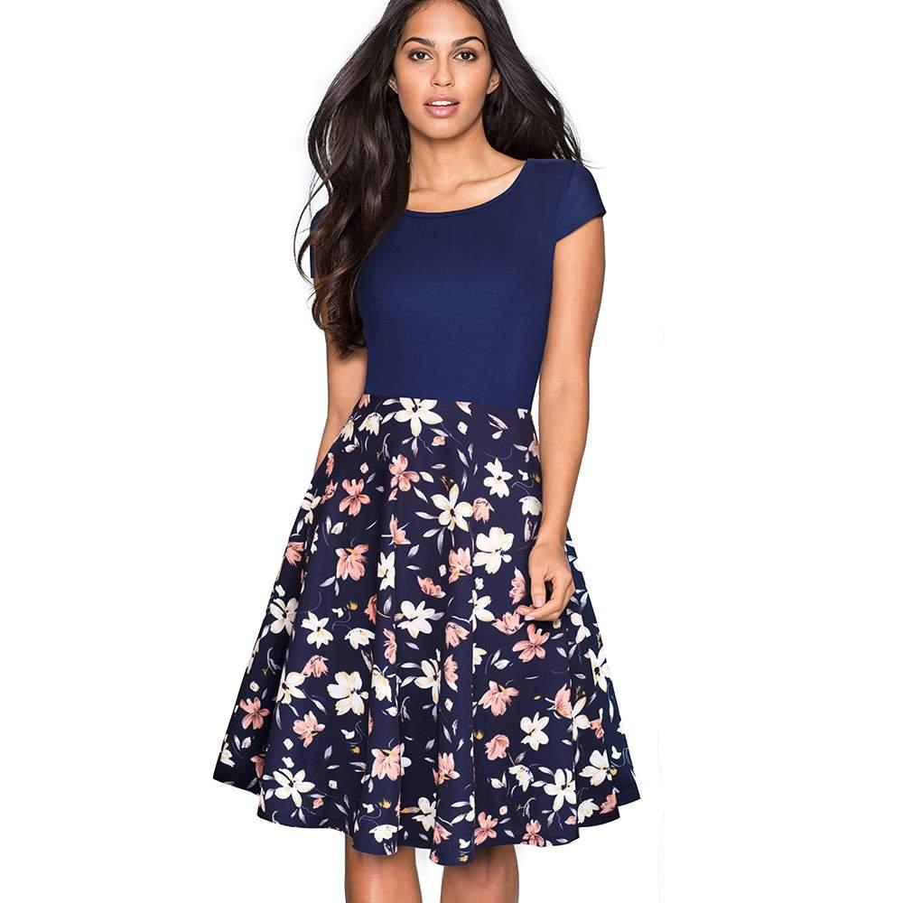 3dc294d1ee8c Dress ~ Women Summer Fashion Plus Size Swing A-line Dresses Elegant ...