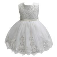 High Quality Lace Sequined Big Bow Tutu Princess Dress For Girl 2017 Summer Girl Wedding Party
