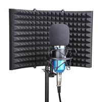 접이식 스튜디오 마이크 절연 쉴드 녹음 사운드 흡수기 폼 패널