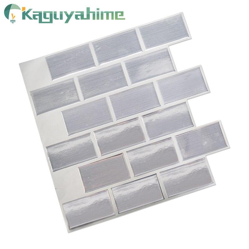 Kaguyahime 3D DIY Wall Stickers Waterproof Wallpaper Brick Ceramic Tile Decor Sticker For Living Room Self Adhesive Mosaic Tiles