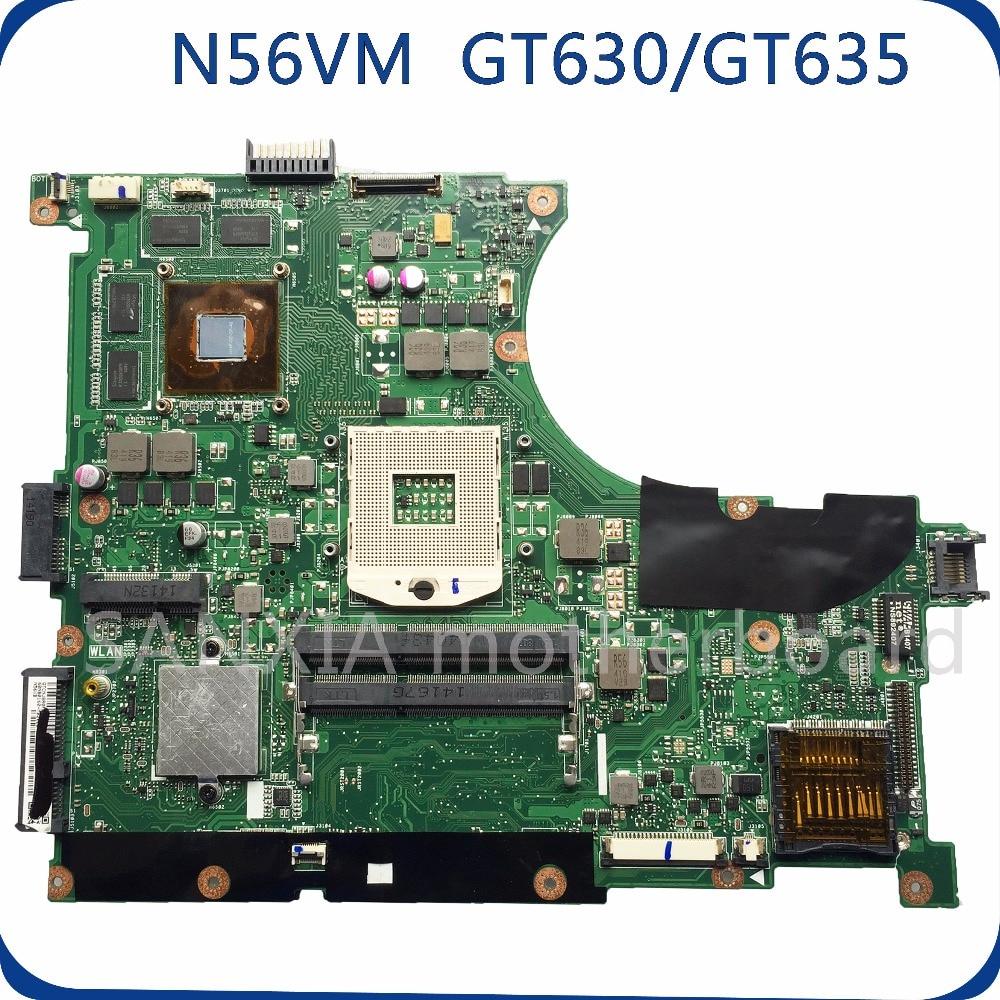 SHELI N56VM motherboard for ASUS N56V N56VM N56VZ N56VJ laptop motherboard GT630/GT635 original tested mainboard N56VZ