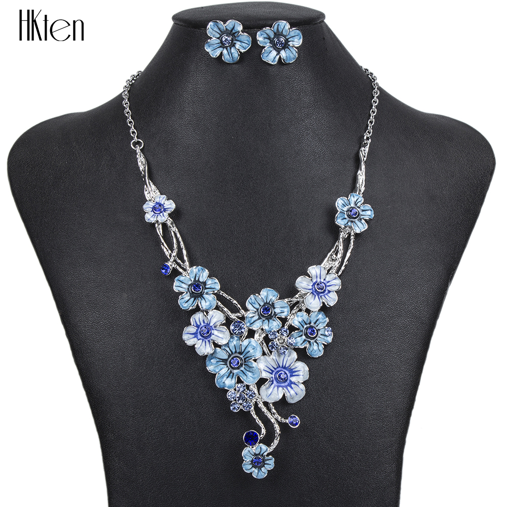 MS1504373Fashion Jewelry Sets Hight Quality 5Colors Necklace Sets For Women Jewelry Silver Plated Crystal Flower Design GiftMS1504373Fashion Jewelry Sets Hight Quality 5Colors Necklace Sets For Women Jewelry Silver Plated Crystal Flower Design Gift