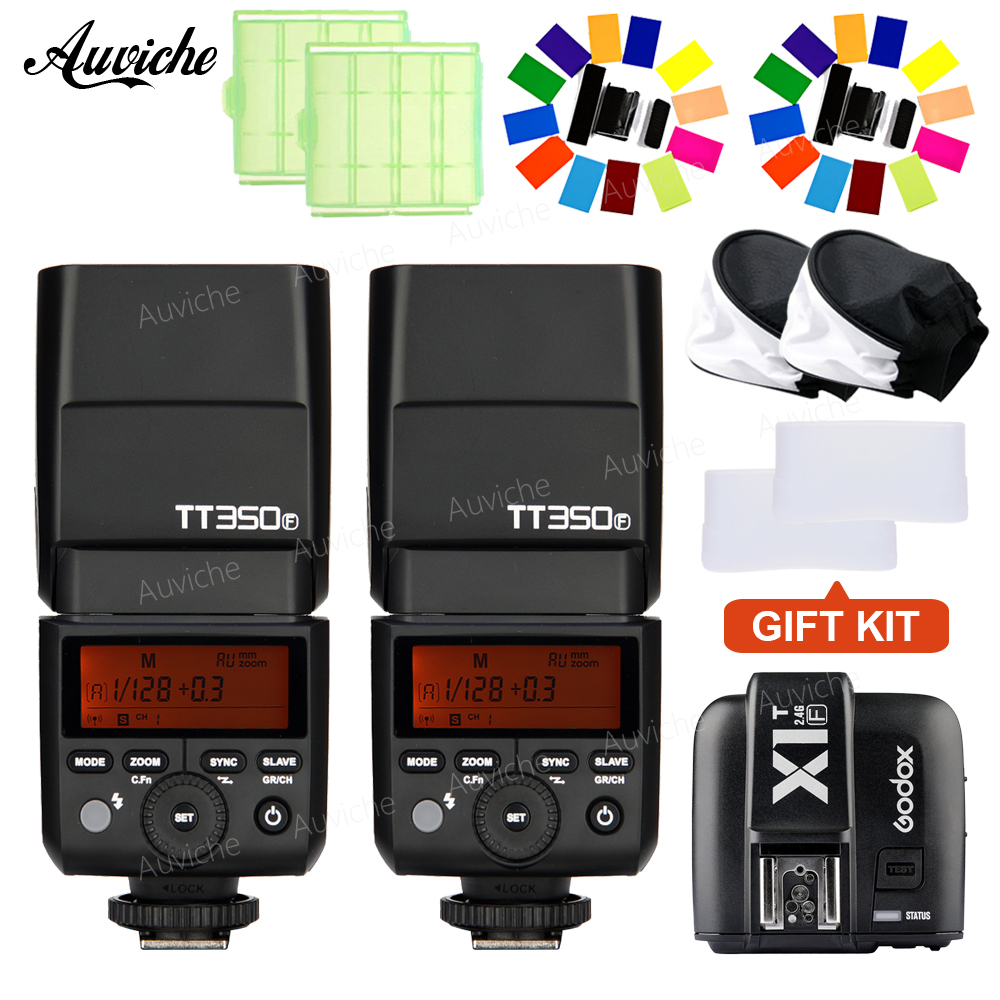GODOX TT350F Flash Speedlite HSS TTL Flash Speedlite with X1T-S Wireless transmitter for fuji X-POR2 X-T20 X-T2 X100 X-T1 X-T10 godox tt685 tt685f 2 4g wireless hss 1 8000s ttl flash speedlite for fujifilm x pro2 x pro1 x t10 x t20 x t2 x t1 x100f x100