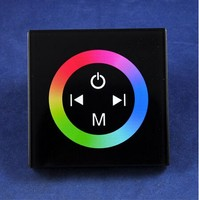 LED RGB ControlleTM08 DC12V 24V 3 Channels 4A Channel Common Anode Touch Panel Wall Mounted Switch