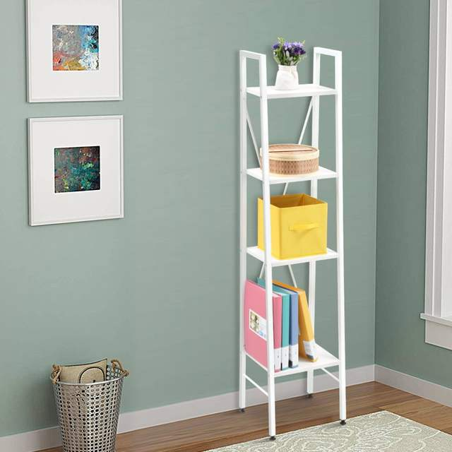 Online Shop Langria 4 Tier Shelves Ladder Bookcase Storage And Display  Standing Shelving Unit For Bedroom Kitchen Gaarage Holders Racks |  Aliexpress Mobile