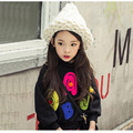 2016 Spring New Arrival Korean Girls Clothes Kids Long Sleeve O-Neck Casual Sweatshirts Hoodies Cotton Letter Print Top For 2-8Y
