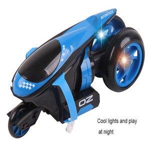 Image 5 - RC オートバイリア輪駆動 360 度ドリフトオートバイスタントリモートコントロールおもちゃ