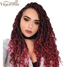 Оплетка для вязания крючком, волнистые волосы в богемном стиле, искусственные густые косички, синтетические плетеные волосы, Омбре для женщин, термостойкие