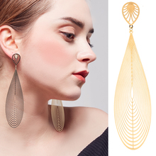 2018  Fashion New high quality polished big ear post Silver shiny Plated max large punk Hoop Earrings party For Women wholesale