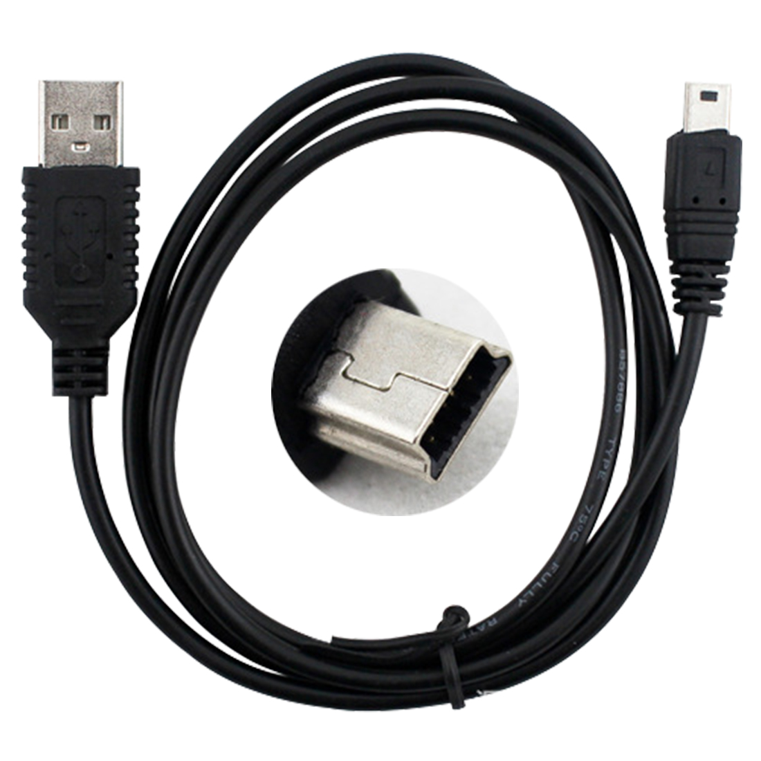 Marsnaska 50cm Adapter Mini USB 2.0 A Male to Mini 5 Pin B Charge Data Cable Adapter For MP3 Mp4 Player Digital Camera phone usb am to 24 pin canon camera cable 1 5 meter