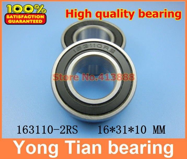 163110-2RS 163110 ball bearing 16x31x10mm 163110 2RS bike axis repair bearing unstandard 6002-2RS sc6001 2rs  12x28x8 mm  s6001 2rs s6001