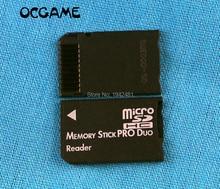 OCGAME 20 teile/los SDHC TF MS Pro Duo karten adapter konverter Memory Stick Pro Duo Reader Für PSP 1000 2000 3000