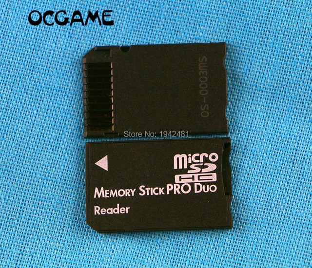 OCGAME 20pcs/lot SDHC TF to MS Pro Duo Card Adapter Converter Memory Stick Pro Duo Reader For PSP 1000 2000 3000