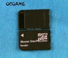 Ocgame 20 개/몫 sdhc tf to MS pro duo 카드 어댑터 변환기 메모리 스틱 pro duo 리더 psp 1000 2000 3000