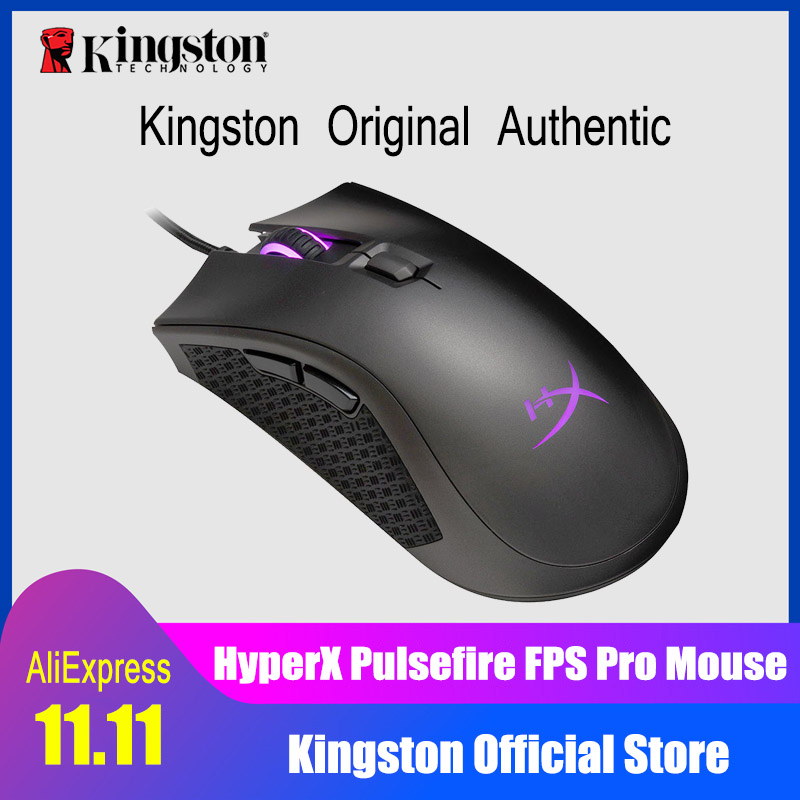 Kingston 3389 sensor wired mouse HyperX Pulsefire FPS Pro RGB Gaming Mouse with native DPI up to 16000 Pixart E-sports mouse e 3lue ems109 wired gaming mouse white