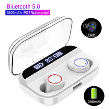 LED Display TWS Wireless Bluetooth Earphone X11 Touch Control 3000mah Power Bank Bluetooth 5.0 Earphones 5D Stereo Sport Headset(China)
