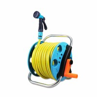 Roller Hose Reel Assembly Easily Hose Pipe Hose Cart Water Pipe Watering Sprinkler Gardening Supplies Garden Squirt Gun 1/2