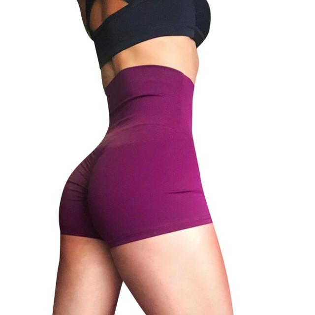 Women's high waist Yoga Skinny Sport Shorts