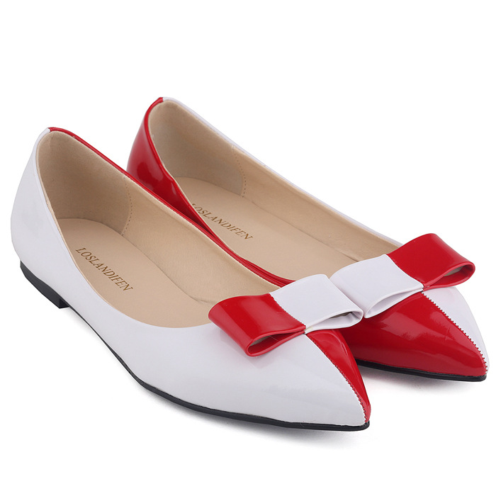2017 Women Comfortable Flats Low Heel Pointed Toe Causal Mixed Color Shoes Sweet Bowtie For Girl Ladies Shoes With Bow SMYBK-109 spring summer women leather flat shoes 2017 sweet bowtie flats women shoes pointed toe slip on ladies shoes low heel shoes pink