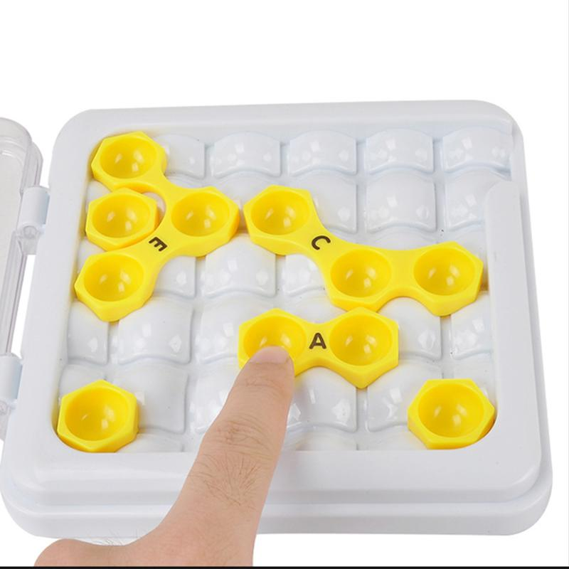 Plastic Hexagon Escape Puzzle Game Brain Teaser Kids Early Learning Educational Toy Gift ...