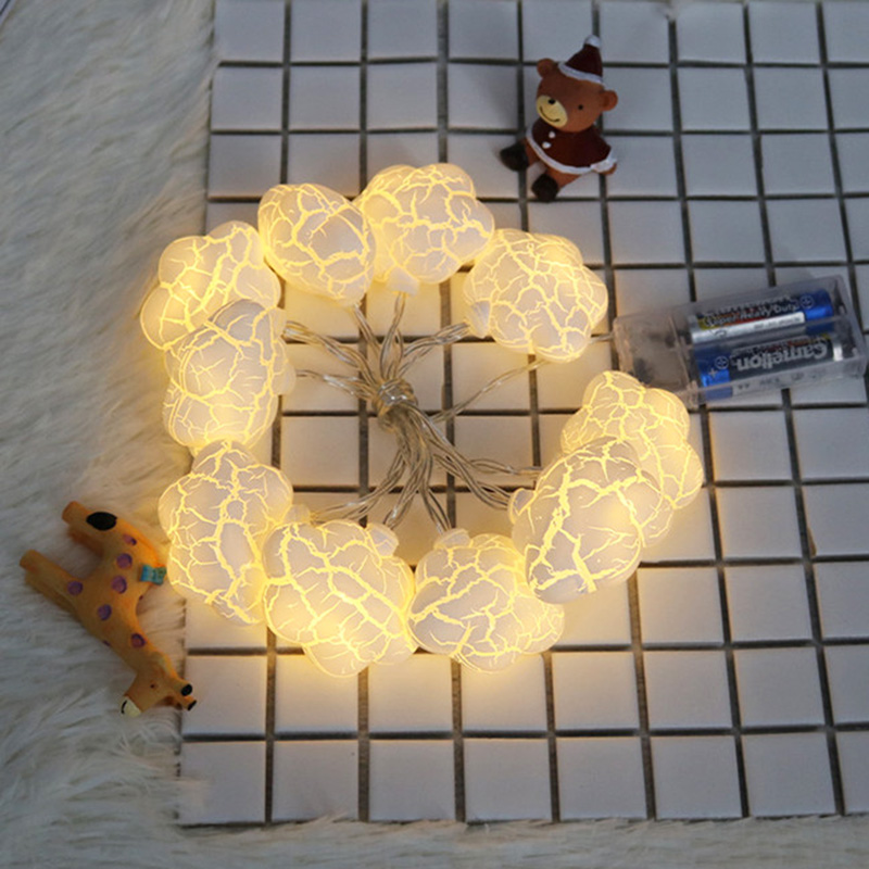 DELICORE 2017 Hot Sale Cloud Nightlights Super Cute Crack Cloud Led String Lamps For Baby Bedroom Party Holiday Decor Light S084