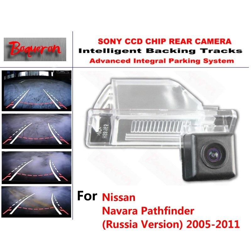 for Nissan Navara Pathfinder 2005~2011 CCD Car Backup Parking Camera Intelligent Tracks Dynamic Guidance Rear View Camera