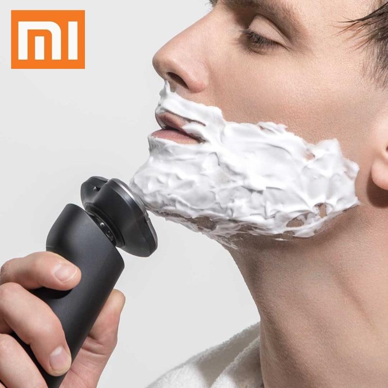 New XIAOMI MIJIA Electric Shaver men Smart Portable Razor 3 Head Shaving Washable Main Sub Dual Blade beard trimmer trimer|Electric Shavers|   - AliExpress