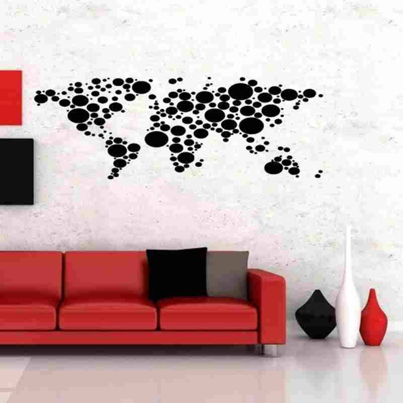 Carte du monde autocollant autocollant Muurstickers affiches vinyle stickers muraux Pegatina Quadro Parede décor Mural carte du monde autocollant