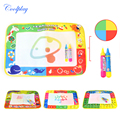 Coolplay 45X29cm Baby Kids Add Water with 2pcs Magic Pen Doodle Painting Picture Drawing Play Rug Russian Board Gift Christmas