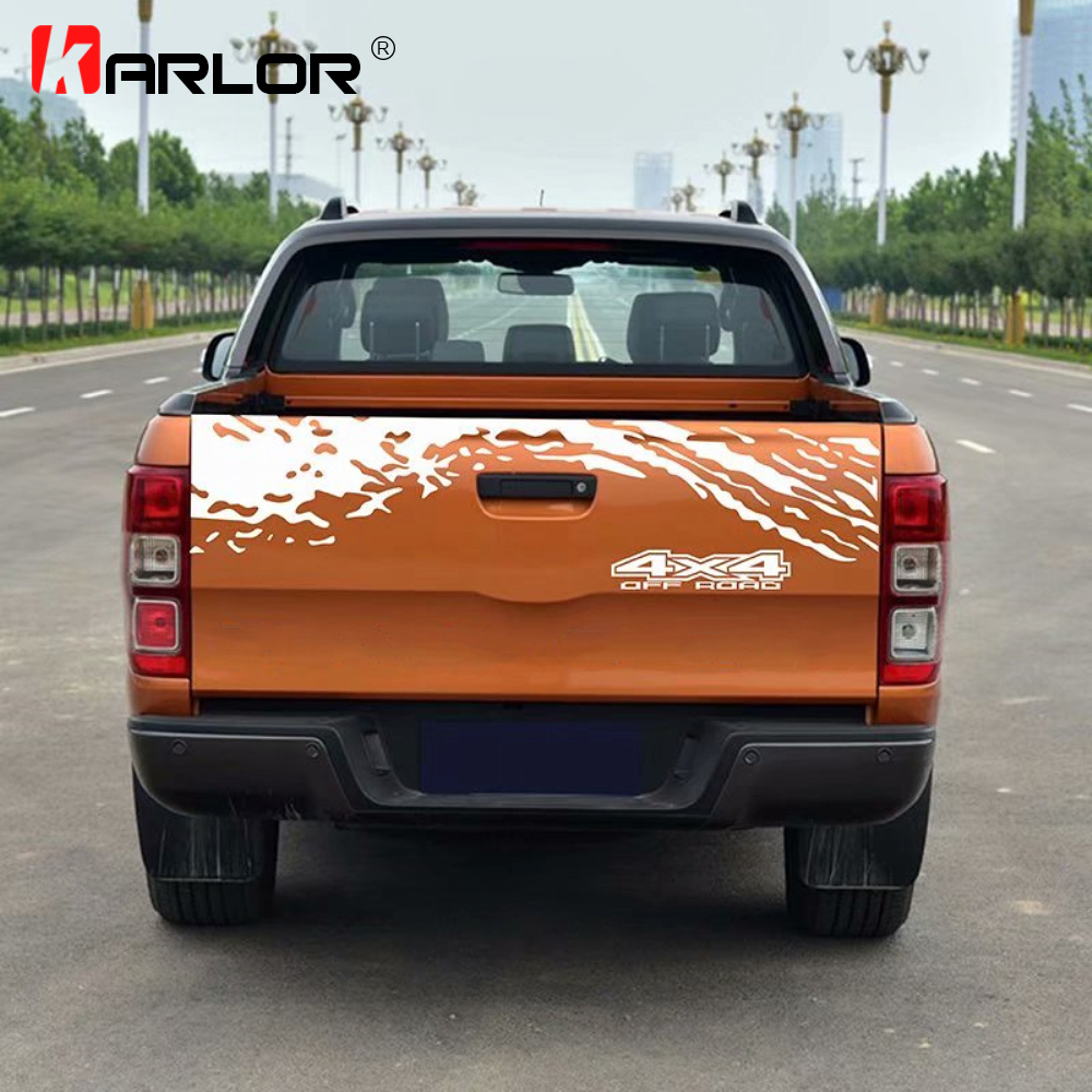 Image 2 - Car Tail Trunk Stickers Decal Car Accessories Automobiles Car Decoration Auto Products For Ford Ranger Off road Universal Pickup-in Car Stickers from Automobiles & Motorcycles