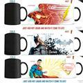 (3 шт. установить) flash кружка, бэтмен, супермен морфинга кружки тепла изменение цвета чашки кофе кружка преобразования Чашка чая