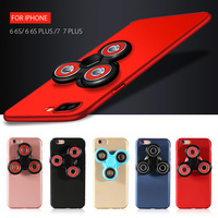 For IPhone 6 6s 7 Plus Case EDC Tri Fidget Spinner Toy Matte PC Case For