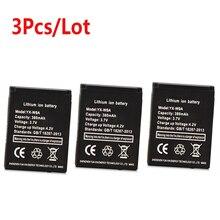 3PCS 380mAh Watch battery For dz09 Rechargeable Li-ion polymer battery For DZ09 Smart Watch Battery