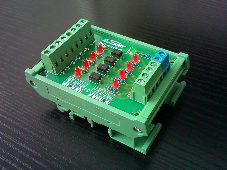 4 way photoelectric isolation module PLC signal level voltage conversion board PNP output 1764 mm2 plc memory module micrologix 1500