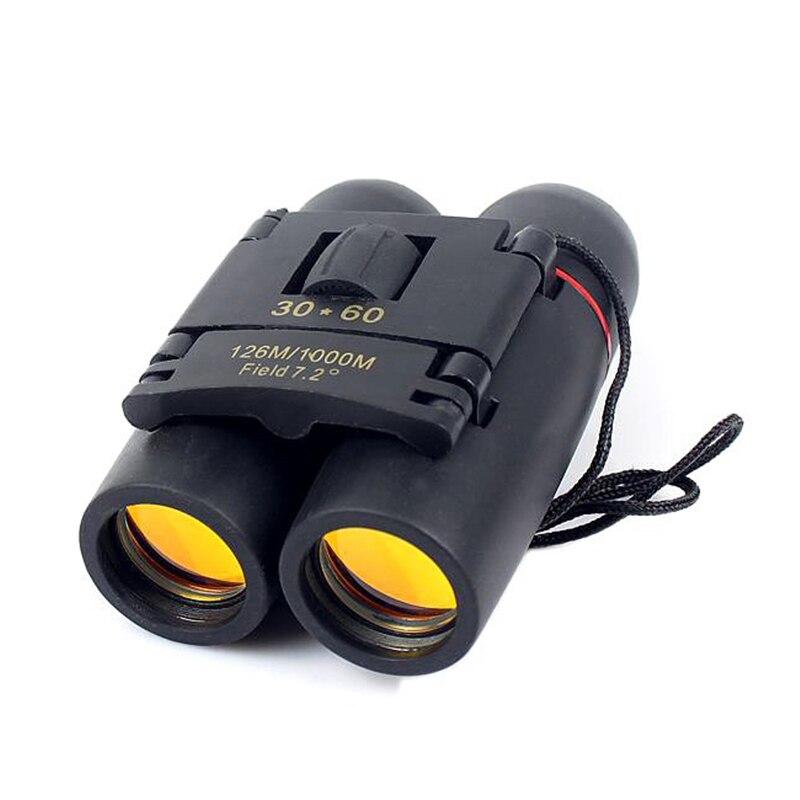 30x60 compacto zoom binóculos de longo alcance dobrável hd poderoso mini telescópio bak4 fmc óptica para a caça esportes acampamento