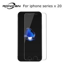 20 adet temperli cam iPhone X XR 5 5s SE 6 6s 7 8 artı patlamaya dayanıklı ekran koruyucu Film için iphone X XS XR 11 Pro Max