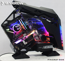 Barrow Acrylic Board as Water Channel use for Cooler COUGAR Conqueror Computer Case use Both CPU and GPU Block RGB Light to AURA