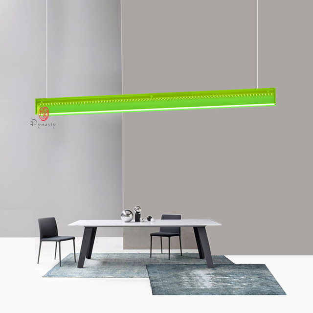 En Aluminium Moderne Bureau Suspendu Eclairage Led Vert Pendentif