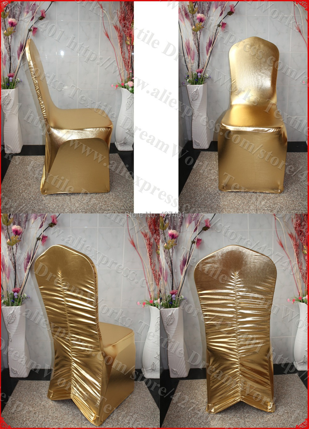 metal chair covers wood padded folding chairs gold color spandex back ruffled cover tablecloth lycra band for wedding party hotel banquet home decoration in from