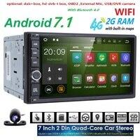 Quad Core Autoradio 2 Din Android Radio Gps Navigation Car Dvd Player 2din Steering Wheel Rear