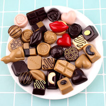 10pc Chocolates Artificial Sugar Figurine Food Sweets Ornament Craft Decor Miniature Dollhouse Home Decoration DIY Accessories(China)