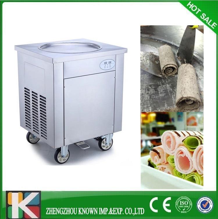 Stainless steel single flat pan fried ice cream machineStainless steel single flat pan fried ice cream machine