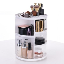 Three Layer Spinning Cosmetic 360 Degree Rotating Lipstick Maquillaje Organizador Rack Black Pink White (Talla: Talla única)